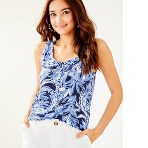 Lilly Pulitzer Merrill Top High Tide Size S NWT